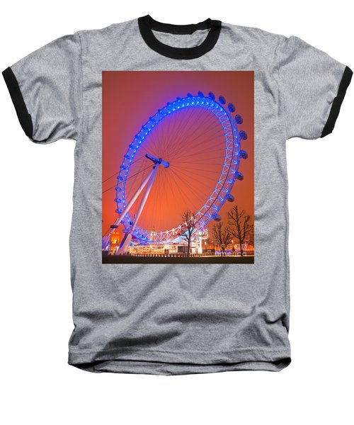 Baseball T-Shirt featuring the photograph The London Eye by Luciano Mortula