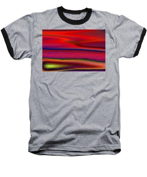 The Lonely Beach Baseball T-Shirt by David Pantuso