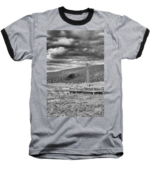 the lonly windmill in B and W Baseball T-Shirt