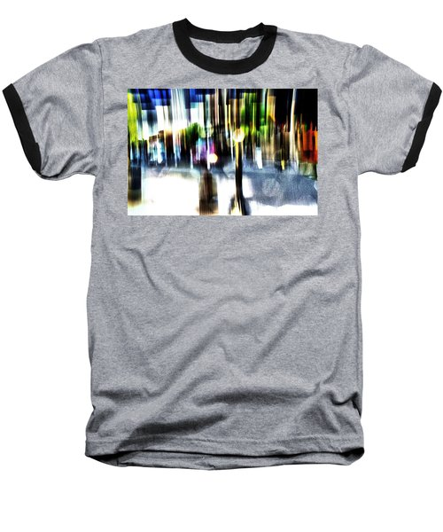 Baseball T-Shirt featuring the mixed media The Man In The Door by Terence Morrissey