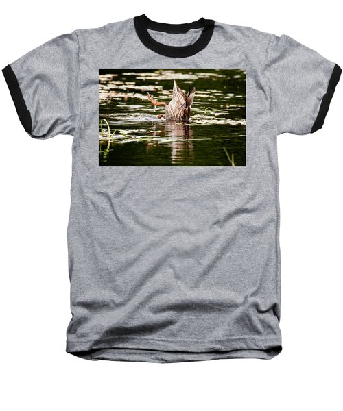Baseball T-Shirt featuring the photograph The Meaning Of Duck by Brent L Ander