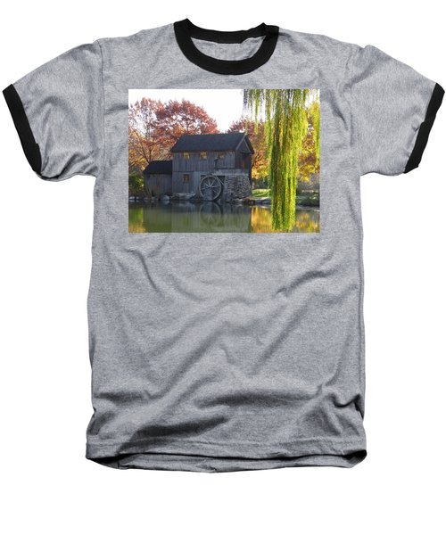Baseball T-Shirt featuring the photograph The Millhouse by Julia Wilcox