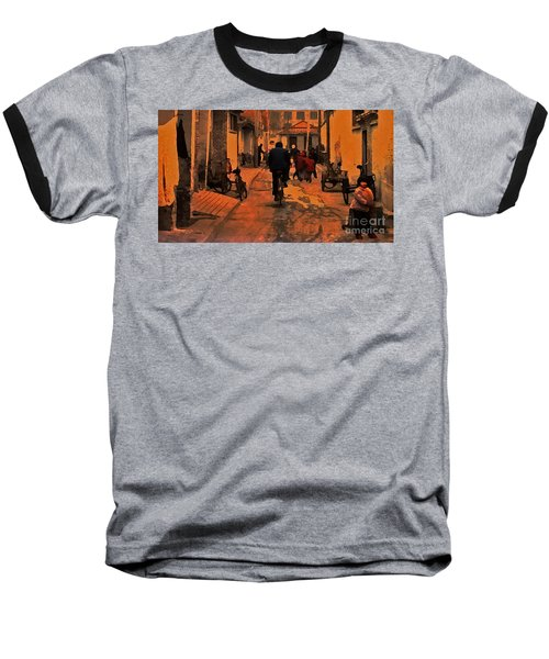 Baseball T-Shirt featuring the photograph The Neighborhood by Lydia Holly