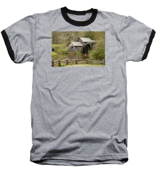 The Old Grist Mill Baseball T-Shirt by Cindy Manero