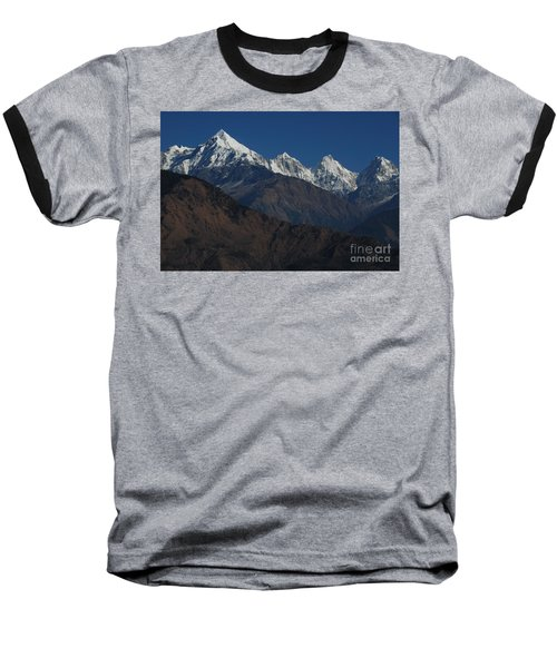 Baseball T-Shirt featuring the photograph The Panchchuli Range by Fotosas Photography
