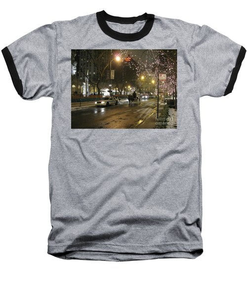 Baseball T-Shirt featuring the photograph The Past Meets The Present In Chicago Il by Ausra Huntington nee Paulauskaite