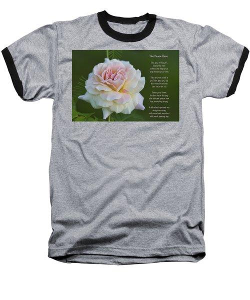 The Peace Rose Baseball T-Shirt
