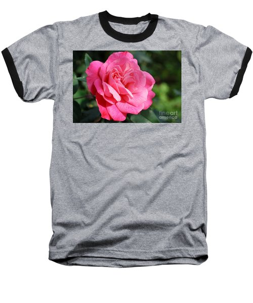 Baseball T-Shirt featuring the photograph The Pink Rose by Fotosas Photography