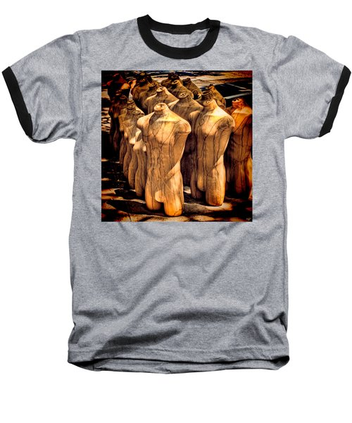 Baseball T-Shirt featuring the photograph The Protest by Chris Lord