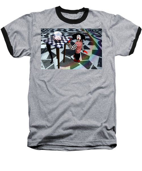 Baseball T-Shirt featuring the digital art The Puppet Freedom by Rosa Cobos