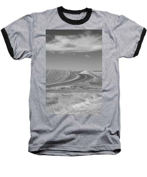 Baseball T-Shirt featuring the photograph The Quiet Road by Kathleen Grace