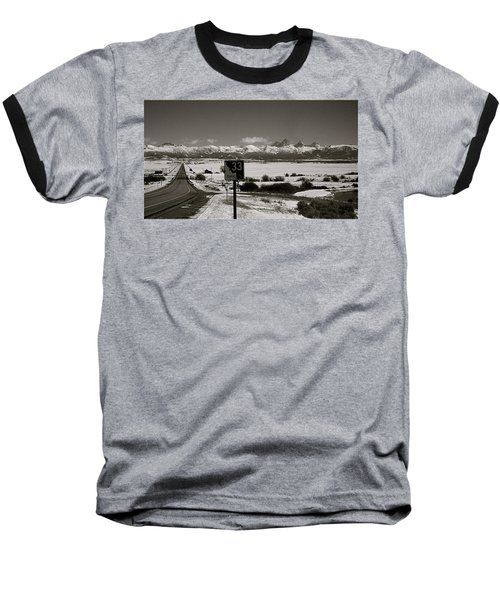 Baseball T-Shirt featuring the photograph The Road Home by Eric Tressler