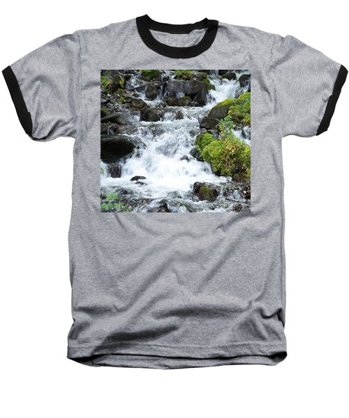 Baseball T-Shirt featuring the photograph The Roadside Stream by Chalet Roome-Rigdon