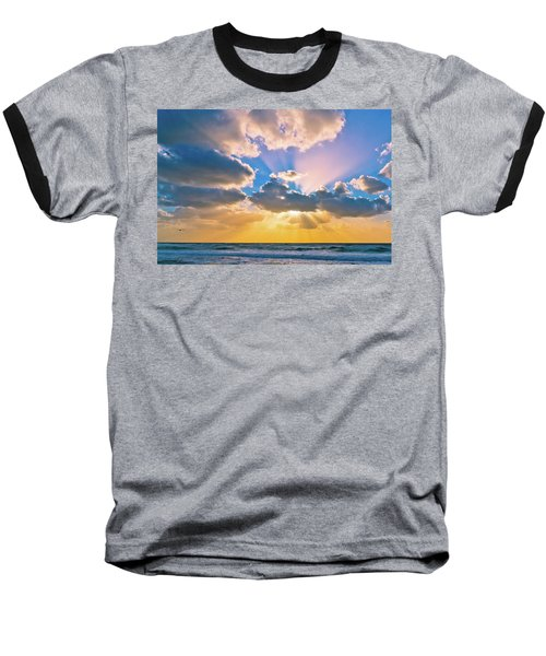The Sea In The Sunset Baseball T-Shirt