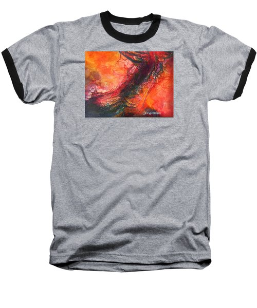 Baseball T-Shirt featuring the painting The Singer by Dan Whittemore