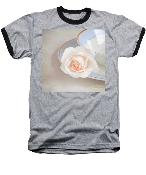The Sweetest Rose Baseball T-Shirt by Lyn Randle