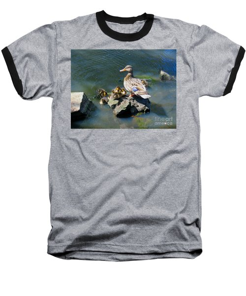 Baseball T-Shirt featuring the photograph The Swimming Lesson by Rory Sagner