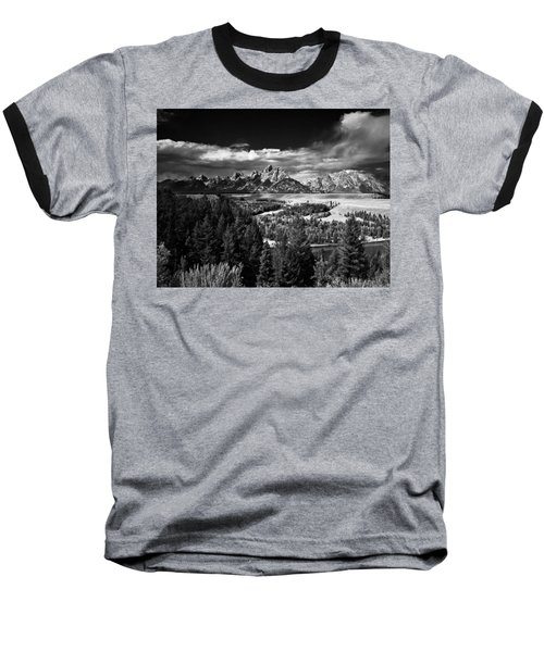 The Tetons Baseball T-Shirt by Larry Carr