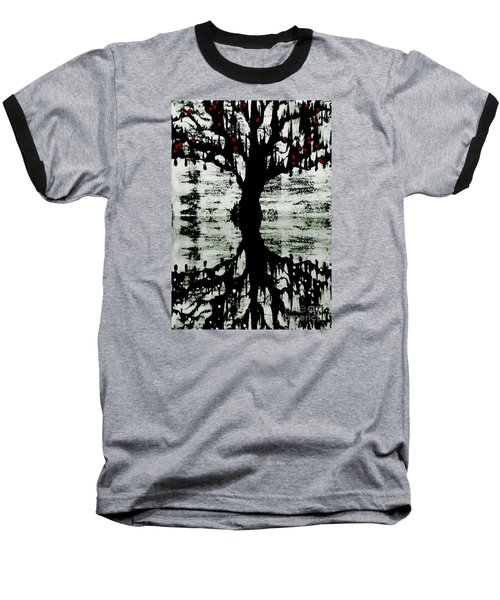 Baseball T-Shirt featuring the painting The Tree The Root by Amy Sorrell