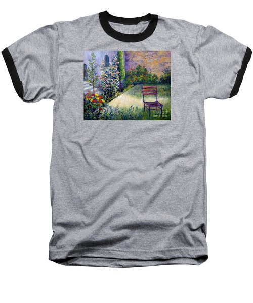 Baseball T-Shirt featuring the painting The Unseen Guest by Lou Ann Bagnall