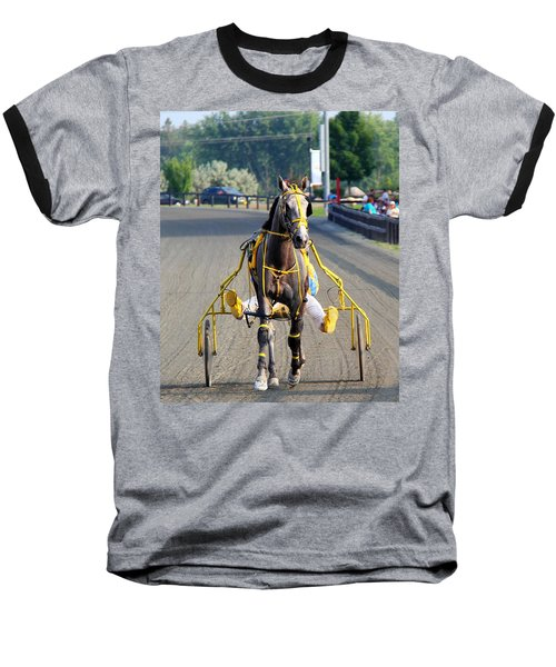 Baseball T-Shirt featuring the photograph The Warm-up by Davandra Cribbie