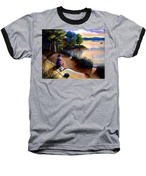 The Wish To Fish Baseball T-Shirt