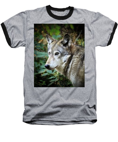 Baseball T-Shirt featuring the photograph The Wolf by Steve McKinzie