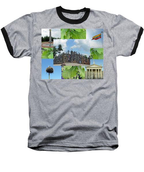 Baseball T-Shirt featuring the photograph This Is Lietuva- Lithuania by Ausra Huntington nee Paulauskaite
