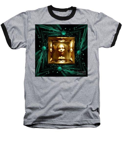 Thoughts Mirror Box Baseball T-Shirt by Rosa Cobos