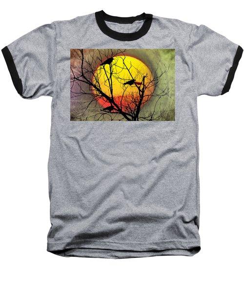 Three Blackbirds Baseball T-Shirt by Bill Cannon