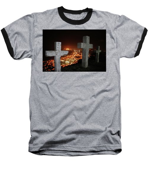 Three Crosses Baseball T-Shirt