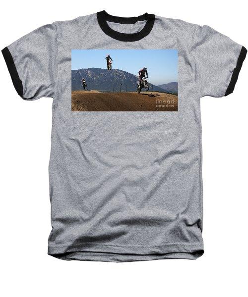Three In The Air Baseball T-Shirt