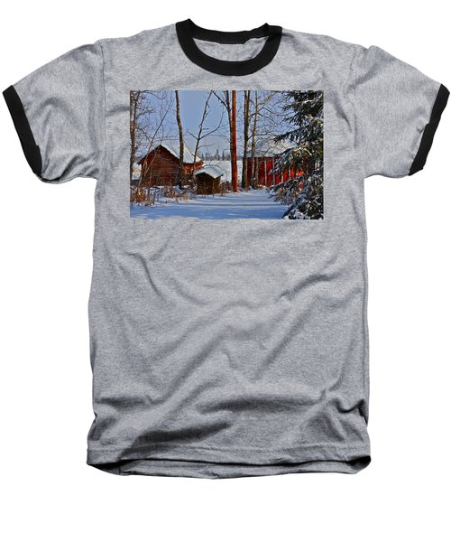 Baseball T-Shirt featuring the photograph Three Little Houses by Johanna Bruwer