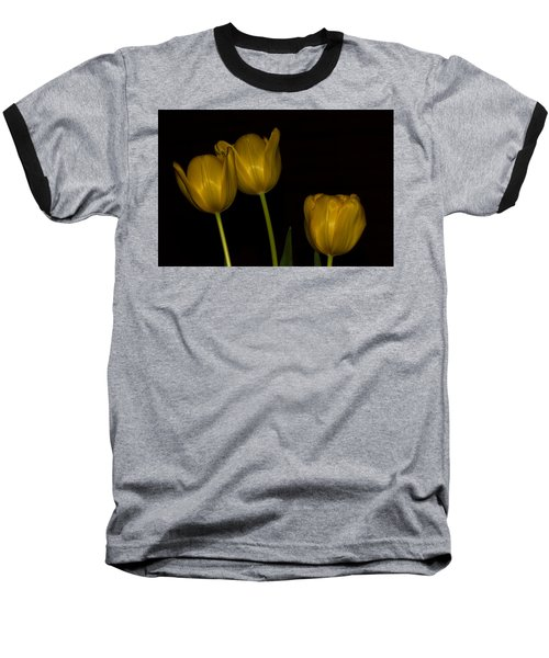 Baseball T-Shirt featuring the photograph Three Tulips by Ed Gleichman