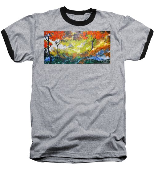 Through The Myst Baseball T-Shirt