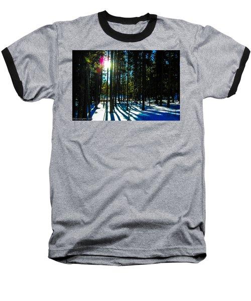 Baseball T-Shirt featuring the photograph Through The Trees by Shannon Harrington