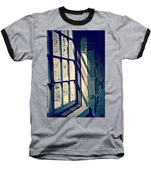 Baseball T-Shirt featuring the photograph View Through The Window - Painterly Effect by Marilyn Wilson