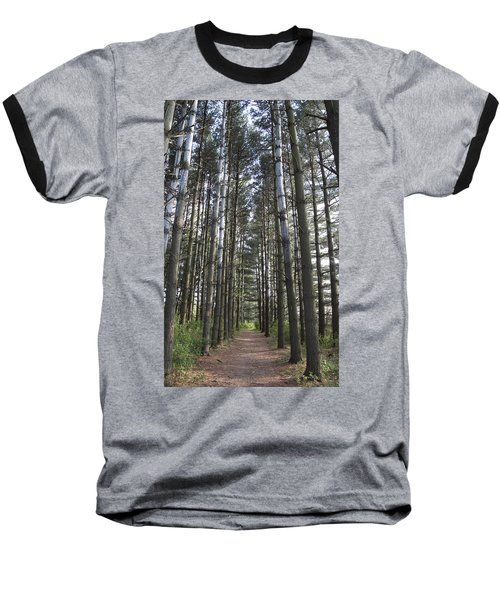 Through The Woods Baseball T-Shirt by Jeannette Hunt