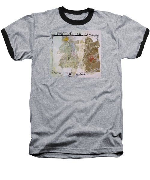 Throwing Stones At My World Baseball T-Shirt by Cliff Spohn