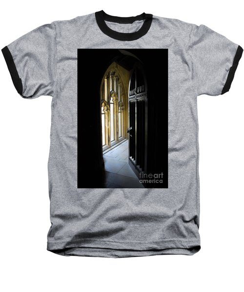 Baseball T-Shirt featuring the photograph Thru The Chapel Door by Cindy Manero