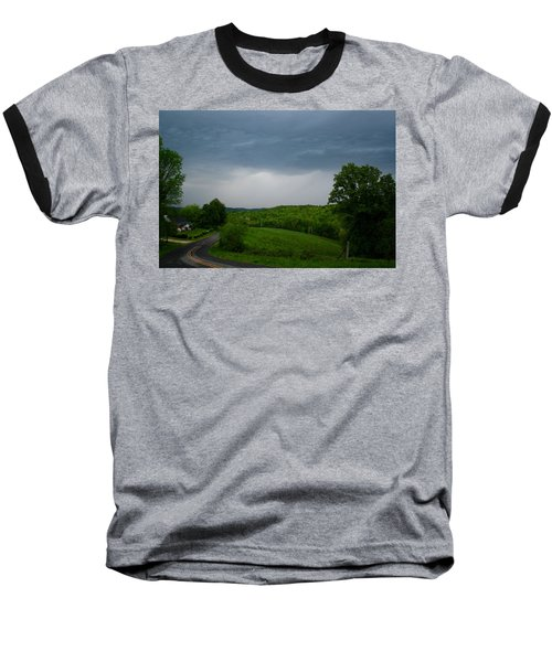 Baseball T-Shirt featuring the photograph Thunderstorm by Kathryn Meyer