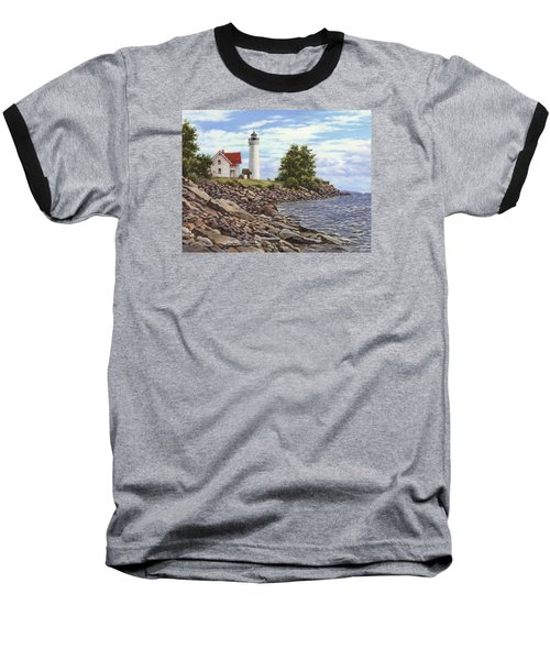 Tibbetts Point Lighthouse Baseball T-Shirt