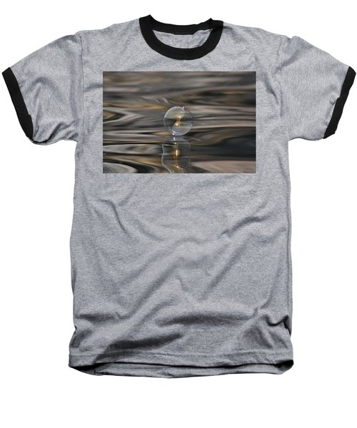 Tiger Water Bubble Baseball T-Shirt by Cathie Douglas