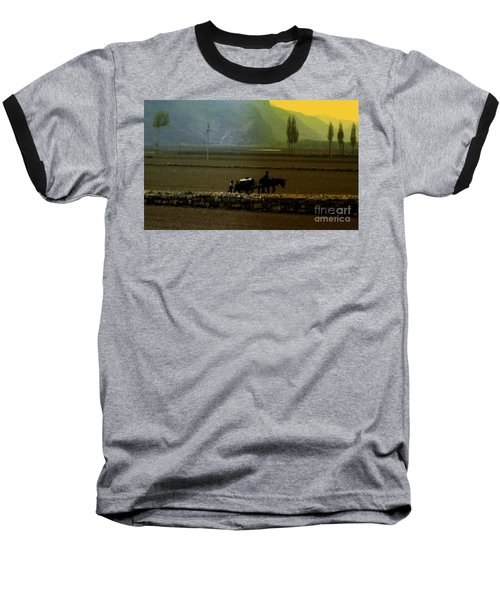Baseball T-Shirt featuring the photograph 'til The Day Is Done by Lydia Holly