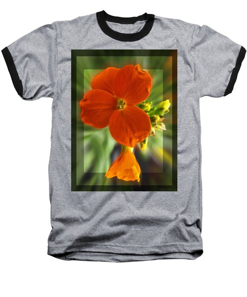 Baseball T-Shirt featuring the photograph Tiny Orange Flower by Debbie Portwood