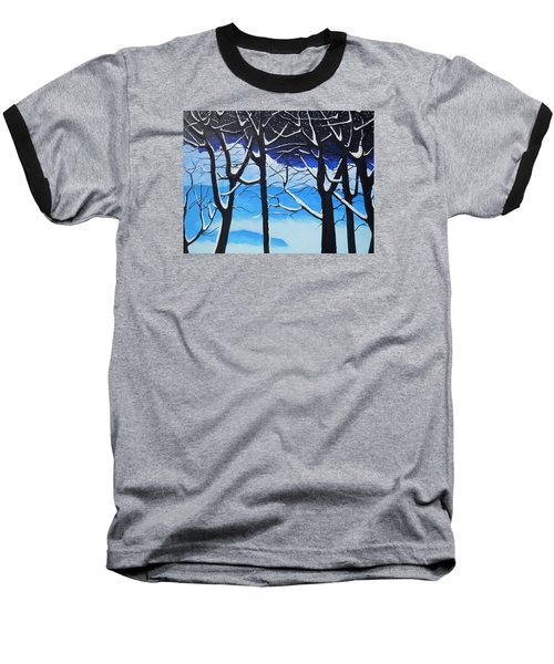 Baseball T-Shirt featuring the painting Tis The Season by Dan Whittemore