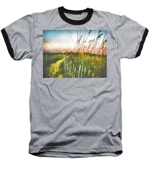 Baseball T-Shirt featuring the painting To The Sea by Lynne Jenkins
