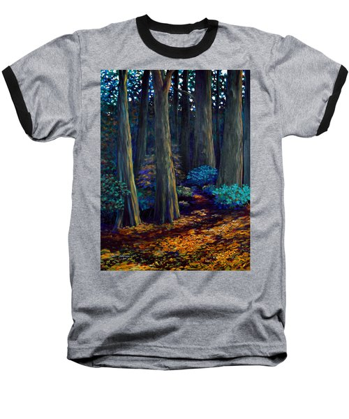 To The Woods Baseball T-Shirt by Jeanette Jarmon