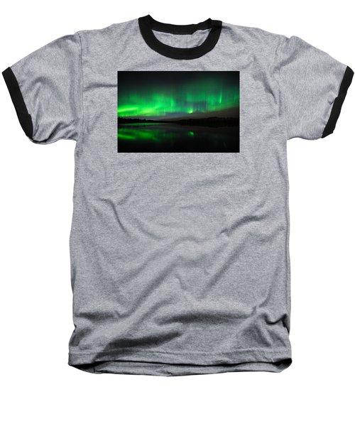 Tofte Lake Aurora Baseball T-Shirt