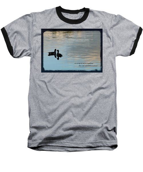 Baseball T-Shirt featuring the photograph Together by Steven Sparks